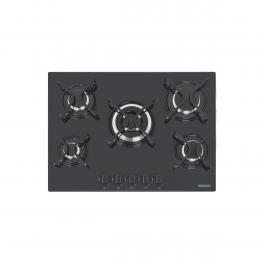 Cooktop a Gás Tramontina Penta 5GG Tri 70 Vidro Temperado Preto Acendimento Automático 5 Queimadores