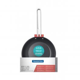 Frigideira Tramontina Ventura em Aço Inox com Revestimento Interno Antiaderente 20cm 1,3L
