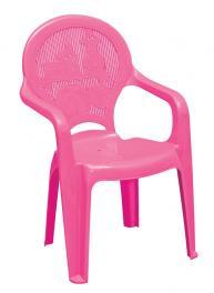 Poltrona Infantil Rosa Estampada Catty Tramontina 92266060