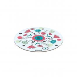 Tábua Tramontina de Vidro Redonda 25cm Branca Colorida 10399006