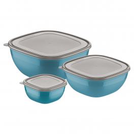 Jogo de Potes Tramontina Mixcolor 3 Peças Azul em Polipropileno