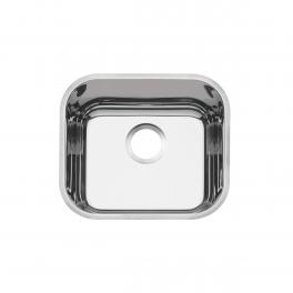Cuba de embutir Tramontina Lavínia 40 BL em aço inox polido 40x34 cm
