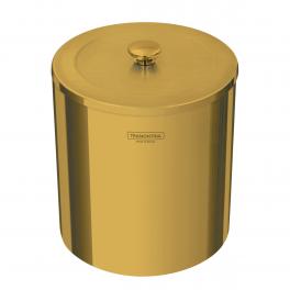 Lixeira Tramontina Útil em Aço Inox Polido com Revestimento Gold 5L
