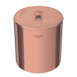 Lixeira Tramontina Útil em Aço Inox Polido com Revestimento Rose Gold 5L