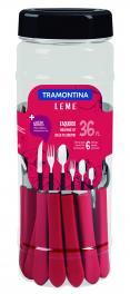 Faqueiro com facas para churrasco Leme Vermelho 36 peças Tramontina