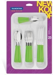 Faqueiro New Kolor Verde 25 peças Tramontina