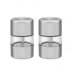 Conjunto de moedores para Sal e Pimenta Tramontina Realce em Aço Inox e Acrílico com Moinho em Cerãmica 2 Peças