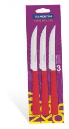 Conjunto de Facas para Churrasco 3 Peças Vermelho New Kolor Tramontina