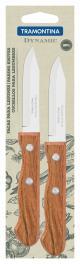 Conjunto de Facas para Legumes e Frutas Tramontina Dynamic com Lâminas em Aço Inox e Cabos de Madeira Natural