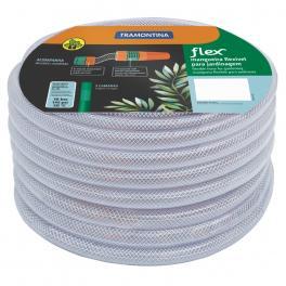 Mangueira Flex Tramontina Transparente em PVC 3 Camadas 10 m com Engates Rosqueados e Esguicho 79182106
