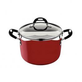 Espagueteira Tramontina Mônaco Indução Vermelha Ø 22 cm 5,4 L