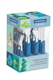 Faqueiro Inox 16 Peças Azul Carmel Tramontina 23499004