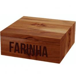 Recipiente para Farinha Tramontina em Madeira Farinheira 13478051