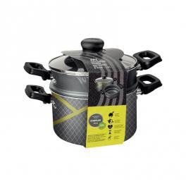 Cozi-vapore Tramontina Power Up em alumínio com revestimento interno e externo em antiaderente