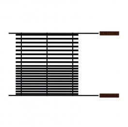 Grelha Tramontina Churrasco Black em aço carbono nitrocarbonetado com cabos de madeira
