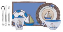 Kit Infantil Azul 7 Peças Inox Le Petit Tramontina 64250690