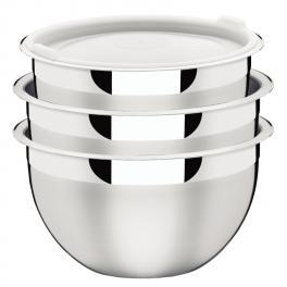 Conjunto de Potes 3 Peças Inox Cucina Tramontina 64220080