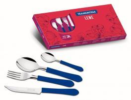 Faqueiro Inox 24 Peças Azul Leme Tramontina 23198130