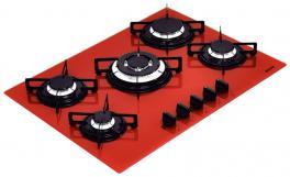 Cooktop Glass Penta 5GG Tri 70 Vermelho Tramontina 94708281
