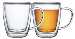 Conjunto Xícaras Para Chá e Capuccino 2 Peças Vidro Tramontina 64760410