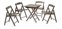 Conjunto Mesa e Cadeira 5 Peças Tabaco Beer Tramontina 10630002