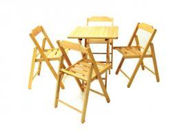 Conjunto Mesa e Cadeira 5 Peças Envernizado Beer Tramontina 10630006
