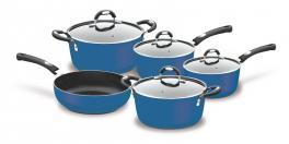 Conjunto de Panelas Alumínio 5 Peças Mônaco Azul Tramontina 20899150