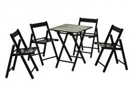 Conjunto Mesa e Cadeira 5 Peças Tabaco Aconchego Tramontina 10630020