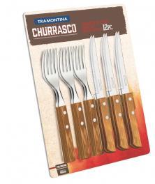 Conjunto Churrasco Inox 12 Peças Tramontina 21199411