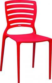 Cadeira Sofia Encosto Vazado Vermelha Tramontina 92237040