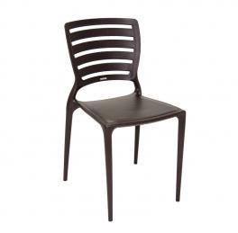 Cadeira Sofia Encosto Vazado Marrom Tramontina 92237109