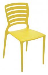 Cadeira Sofia Encosto Vazado Amarela Tramontina 92237000