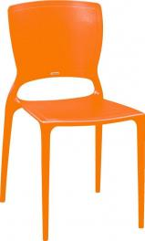 Cadeira Sofia Encosto Fechado Laranja Tramontina 92236090