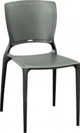 Cadeira Sofia Encosto Fechado Grafite Tramontina 92236007