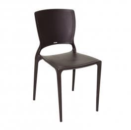 Cadeira Sofia Encosto Fechado Marrom Tramontina 92236109