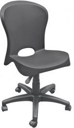 Cadeira Jolie com Rodizio Preta Tramontina 92070009