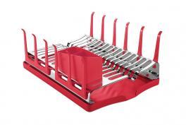 Escorredor de Louças Com Bandeja Vermelho Plurale Tramontina 61535060
