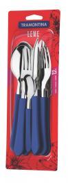 Faqueiro Inox 12 Peças Azul Leme Tramontina 23198139