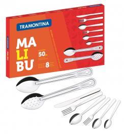 Faqueiro Inox 50 peças Malibu Tramontina 23798037