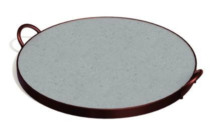 Assadeira em Pedra Sabão 38cm Pizza Tramontina 10399029