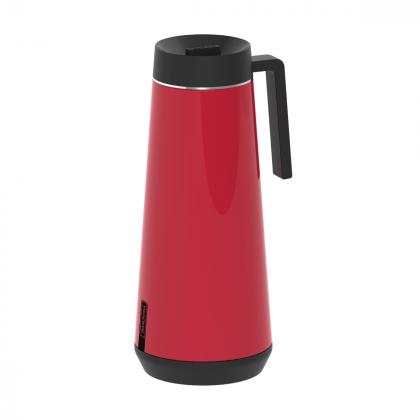 Bule Térmico Tramontina Exata em Aço Inox Vermelho com Infusor 1L
