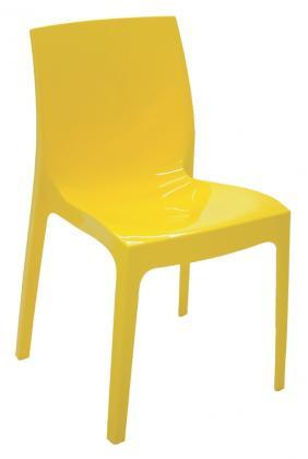 Cadeira Alice polida amarela