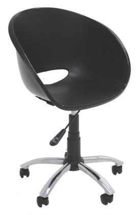 Cadeira Elena com Rodizio Preta Tramontina 92071009