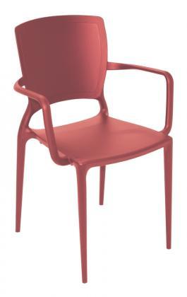 Cadeira Sofia Com Braço Vermelho Tramontina 92039040