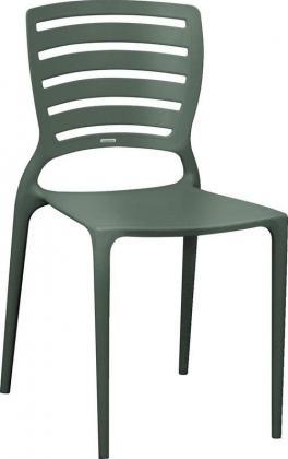 Cadeira Sofia Encosto Vazado Grafite Tramontina 92237007
