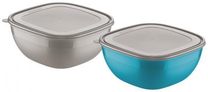 Conjunto de Potes Cinza e Azul 2 Peças Mixcolor Tramontina 25099950