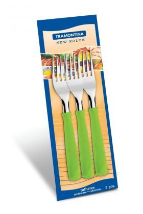 Conjunto Garfos Inox 3 Peças Verde New Kolor Tramontina 23162320