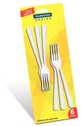 Conjunto Garfos Sobremesa 6 Peças Inox Búzios Tramontina 23755600
