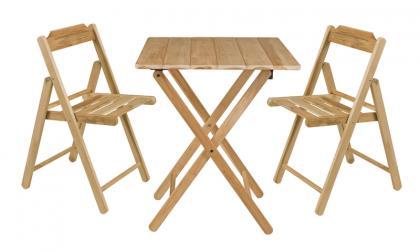 Conjunto Mesa e Cadeira Beer Natural Teca Tramontina 10630068
