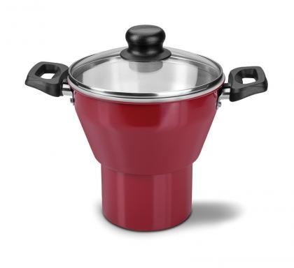 Cuscuzeira Alumínio 16cm Vermelha Caribe Tramontina 20239716